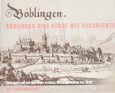 View on Böblingen and its castle (around 1643)